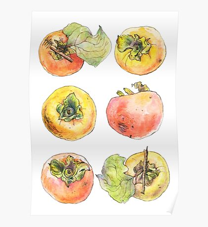 Six Persimmons Poster