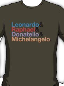 The Turtles (Color & Black) T-Shirt