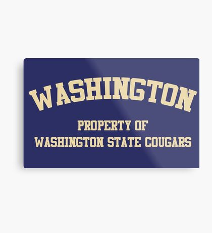 Washington State - Washington Rivalry Metal Print