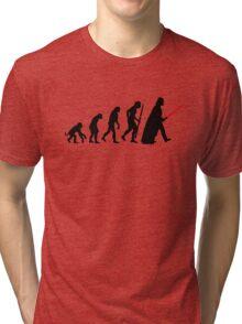 Evolution  lightsaber Tri-blend T-Shirt