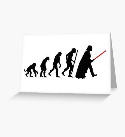 Evolution  lightsaber Greeting Card