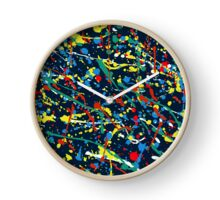 Abstract Paint Clock