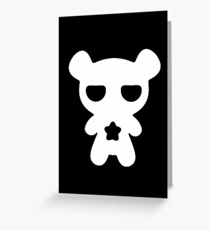 Lazy Bear Black and White Greeting Card