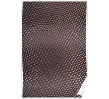 Black leather texture Poster