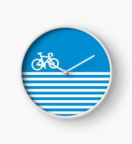 Blue Simple Bike Clock