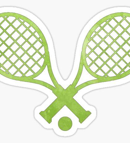 Tennis Racket Green Sticker