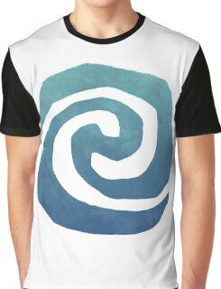 Watercolor Moana Swirl  Graphic T-Shirt
