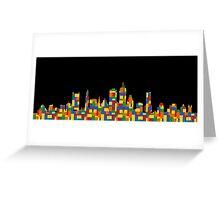 Boston Skyline 4 Greeting Card
