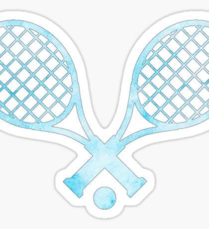 Tennis Racket Light Blue Sticker