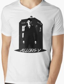 Tenth Doctor Allons-y. Mens V-Neck T-Shirt