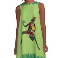Hanuman's Leap A-Line Dress