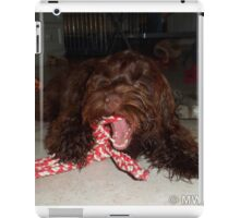 Cockapoo with her toys iPad Case/Skin