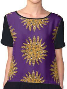 Golden Crown Thing with Jewels Women's Chiffon Top