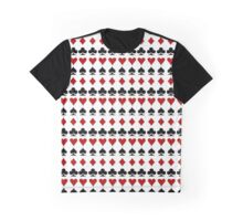Playing card print Graphic T-Shirt