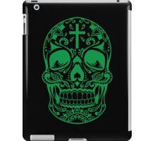 Sugar Skull Green iPad Case/Skin
