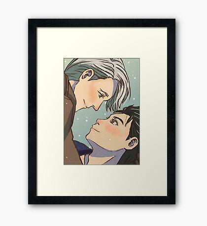 Victuuri - Yuri!!! On Ice Framed Print