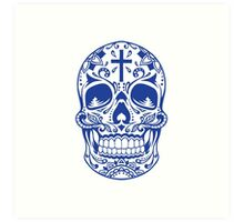 Sugar Skull Blue Art Print