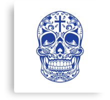 Sugar Skull Blue Canvas Print