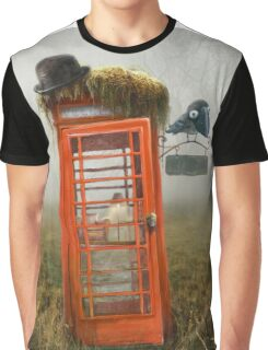 Phonebox Cottage Graphic T-Shirt
