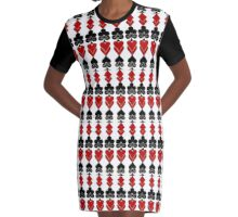 Playing card mix Graphic T-Shirt Dress