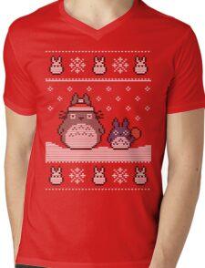 Santa-Totoro Christmas Sweater Mens V-Neck T-Shirt