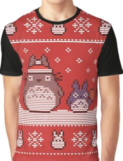 Santa-Totoro Christmas Sweater Graphic T-Shirt