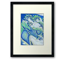 March of The Hippocampi Framed Print