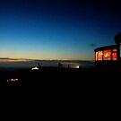Night Fall At The Adobe Resort. Yachats, Oregon by Diane Arndt