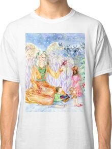 Christmas Tidings Holly Angel  Classic T-Shirt