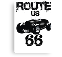 Custom Happynes is Route 66 lifestyle Canvas Print