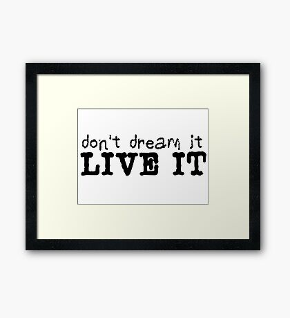 inspirational dream dreamer cool life saying t shirts Framed Print