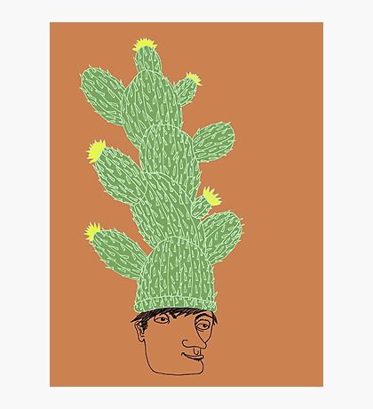 Cactus Hat Hipster Street Wear Photographic Print