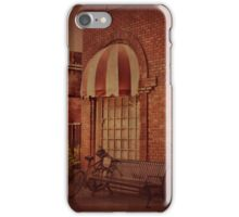 bicycle and awning iPhone Case/Skin
