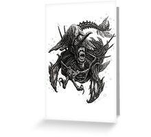 Narwhalien Greeting Card
