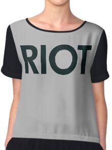 Riot (black) Chiffon Top