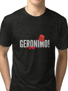 Doctor Who Geronimo! Tri-blend T-Shirt