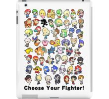 Super Smash Bros. All 58 Characters! Choose Your Fighter!! iPad Case/Skin