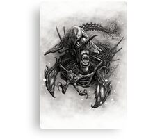 Narwhalien in murky waters Canvas Print