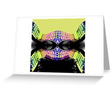 Retro Dynamic 1980s Pattern Greeting Card