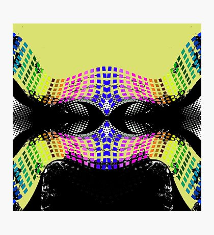 Retro Dynamic 1980s Pattern Photographic Print