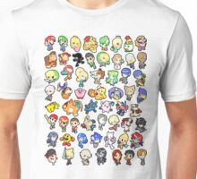 Super Smash Bros. All 58 Characters!! Unisex T-Shirt