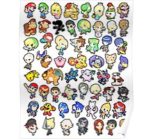 Super Smash Bros. All 58 Characters!! Poster