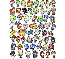 Super Smash Bros. All 58 Characters!! Photographic Print