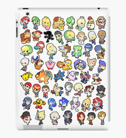 Super Smash Bros. All 58 Characters!! iPad Case/Skin
