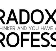 paradox, professor - kierkegaard Sticker