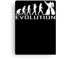 Custom darwin evolution of Robot new funny t-shirt Canvas Print