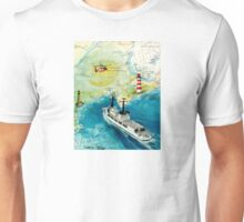 USCGC CHASE Helicopter Lighthouse Map Cathy Peek Unisex T-Shirt