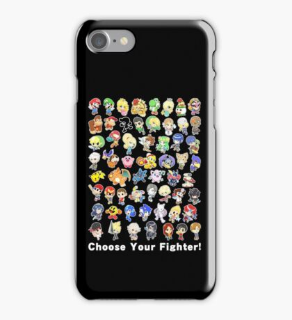 Super Smash Bros. All 58 Characters! Choose Your Fighter! iPhone Case/Skin