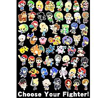 Super Smash Bros. All 58 Characters! Choose Your Fighter! Photographic Print