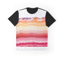 Red and orange agate mineral super macro Graphic T-Shirt